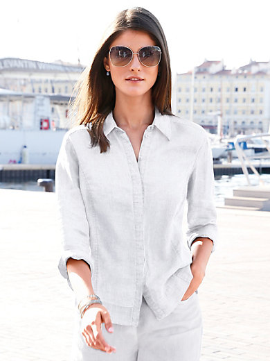 Peter Hahn - Blouse with 3/4-length sleeves in 100% linen