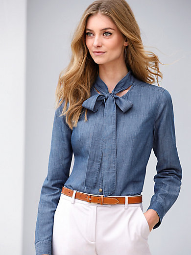 Long blouse in 100% linen Peter Hahn denim Peter Hahn 2018 New For Sale Comfortable Cheap Price Outlet Locations SRs5ftOnh