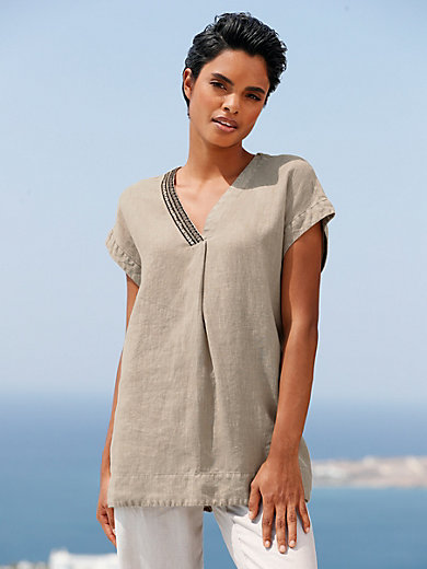 Peter Hahn - Blouse with drop shoulder