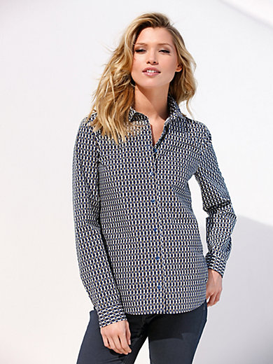 Peter Hahn - Blouse with shirt-style collar