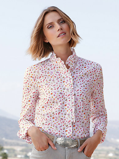 Peter Hahn - Blouse with stand-up collar