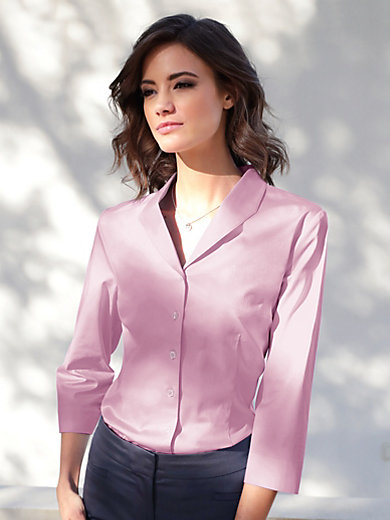 Peter Hahn - Blouse with vented 3/4-length sleeves