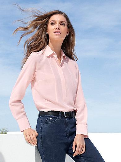 Peter Hahn - Bluse aus 100 % Seide mit Hemdkragen