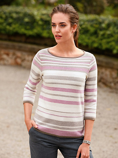 Peter Hahn - Boat neck jumper with 3/4-length sleeves
