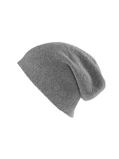 e51343cccd5ce Peter Hahn Cashmere - Beanie in 100% cashmere - light grey