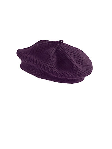 3024464cd9de1 Peter Hahn Cashmere - Beret in 100% cashmere - plum