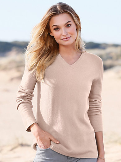 Peter Hahn Cashmere - Le pull col V 100% cashemire