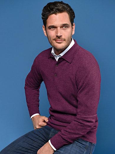 Peter Hahn Cashmere - Polo-bluse af 100% kashmir model Paul