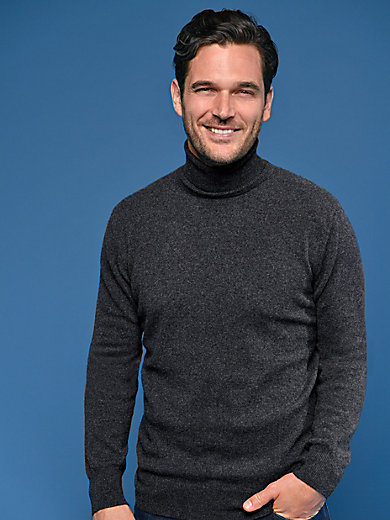 Peter Hahn Cashmere - Polo neck jumper in 100% cashmere - Design ROLAND