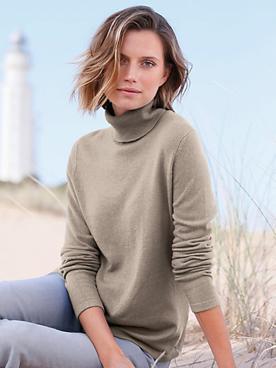 Peter Hahn Cashmere - Polo neck jumper in 100% cashmere design Roxy