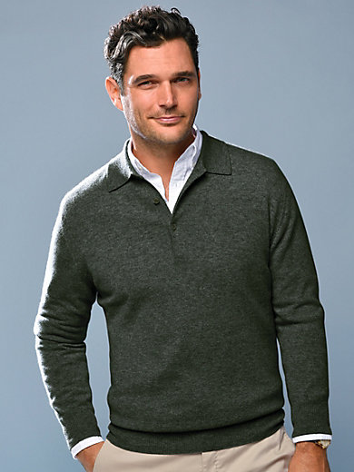 8c07feb9a1a8b8 Peter Hahn Cashmere - Polo neck pullover in 100% cashmere – Paul ...