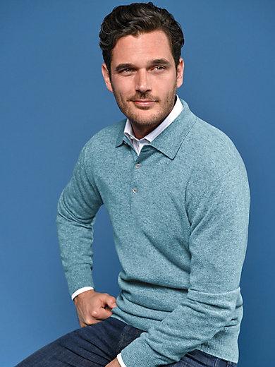 Peter Hahn Cashmere - Polo-Pullover aus 100% Kaschmir Modell Paul