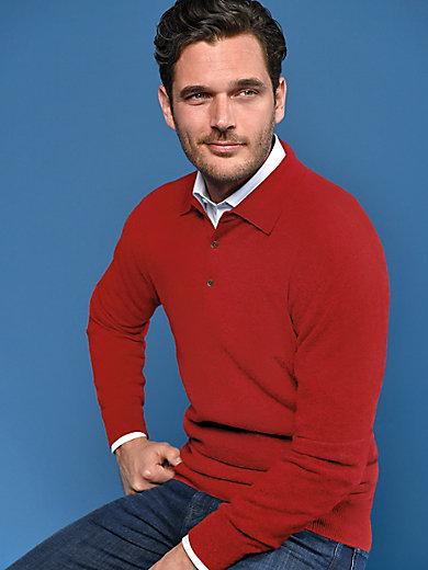 Peter Hahn Cashmere - Polo-Pullover aus 100% Premium-Kaschmir