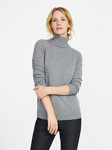 Peter Hahn Cashmere - Roll-neck jumper in Pure cashmere in premium quali