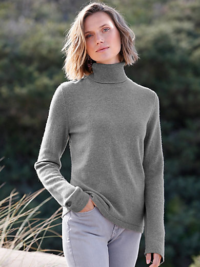 Peter Hahn Cashmere - Rollkragen-Pullover aus 100% PREMIUM Kaschmir