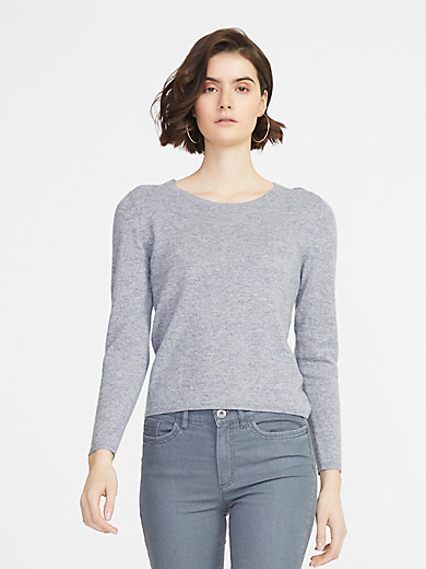 Peter Hahn Cashmere - Round neck jumper in 100% cashmere
