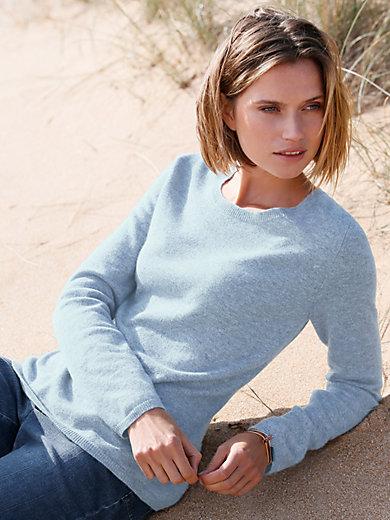 Peter Hahn Cashmere - Rundhalsad tröja i 100% kashmir
