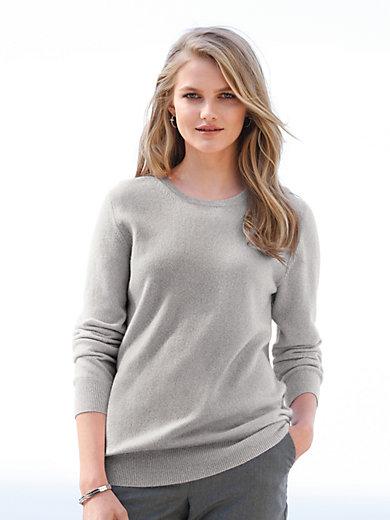 Peter Hahn Cashmere - Rundhalsad tröja med lång ärm – 100% kashmir