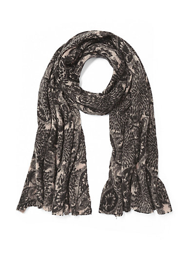 Peter Hahn Cashmere - Striktørklæde i 100% kashmir
