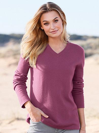 Peter Hahn Cashmere - V-bluse af 100% kashmir model Veronika