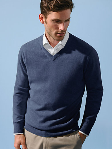 Peter Hahn Cashmere - V-neck jumper - design VALENTIN
