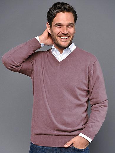 80e57f8fea8 V-neck jumper in 100% cashmere design Valentin
