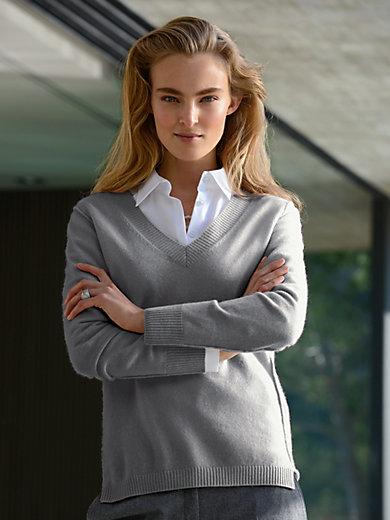 Peter Hahn Cashmere - V-Pullover aus reinem Kaschmir