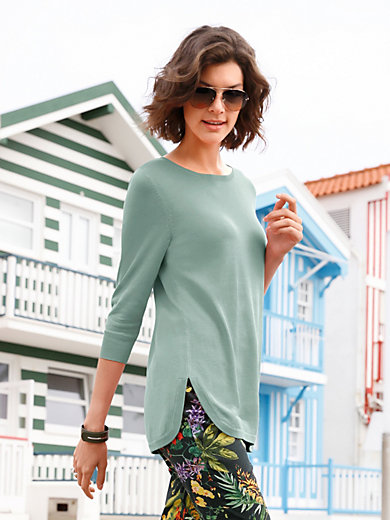 Peter Hahn - Crew neck jumper with 3/4-length sleeves