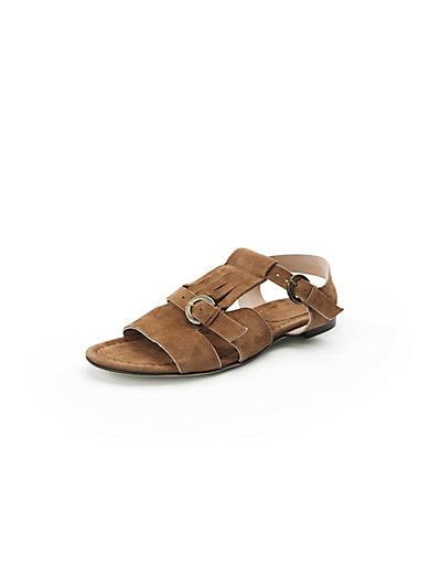Peter Hahn exquisit - Sandale mit trendigen Fransen