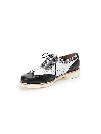 Peter Hahn exquisit - Schnür-Schuh mit Details in Lackleder