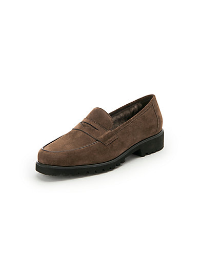 adcaa950407 Peter Hahn exquisit - Winterproof loafers in 100% leather - chocolate