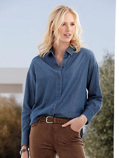 Peter Hahn - Jeans-Bluse mit überschnittener Schulter