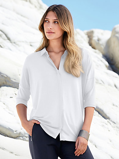 Peter Hahn - Jersey blouse with 3/4-length sleeves