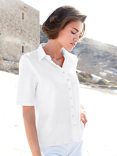 Peter Hahn - Jersey blouse with elbow-length sleeves