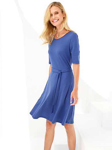 Peter Hahn - Jersey dress with short sleeves