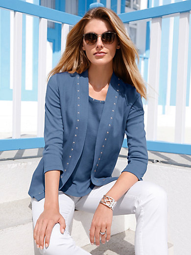 Peter Hahn - Jersey jacket with 3/4-length sleeves
