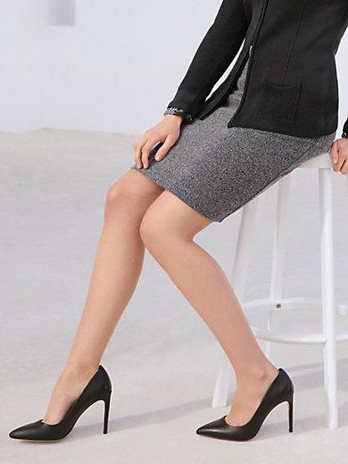 Peter Hahn - Jersey skirt with herringbone pattern