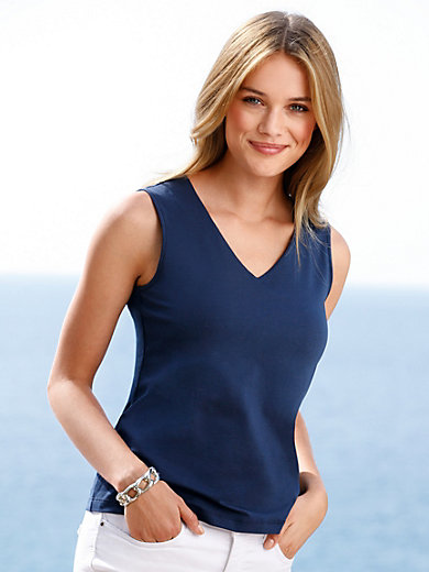 Peter Hahn - Jersey-Top with V-neck