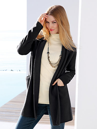 Peter Hahn - Knitted coat in 100% new milled wool
