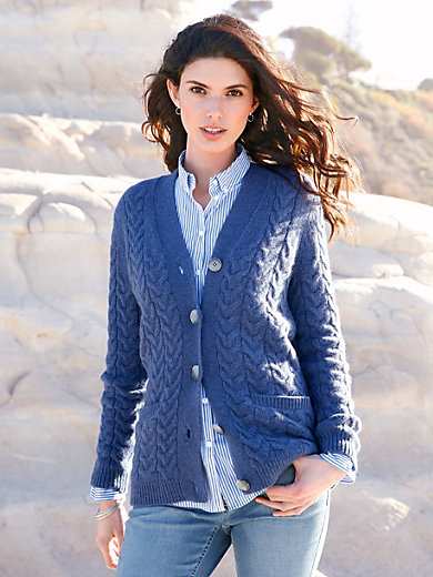 Peter Hahn - Knitted jacket in 100% new milled wool