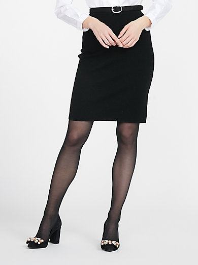 Peter Hahn - Knitted skirt in 100% new milled wool