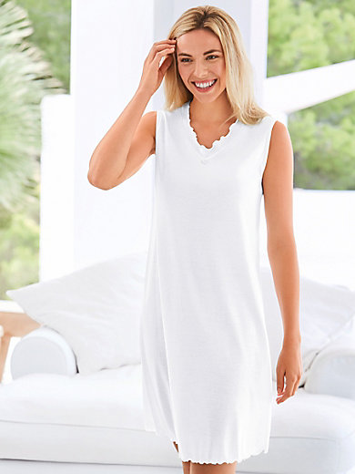 Peter Hahn - La chemise de nuit 100% coton sans manches
