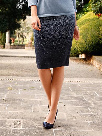 Peter Hahn - La jupe en maille jacquard bicolore, ligne droite