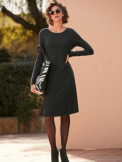 Peter Hahn - La robe en jersey, manches longues, ligne trapèze