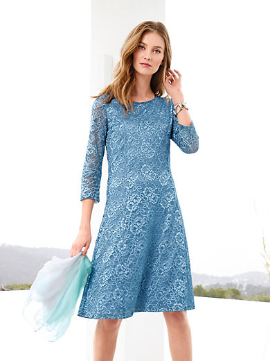 Stretchy lace dress blue female Samoon 3Qv8DP4
