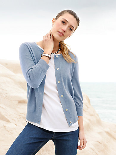 Peter Hahn - Le cardigan manches 7/8 100% laine vierge