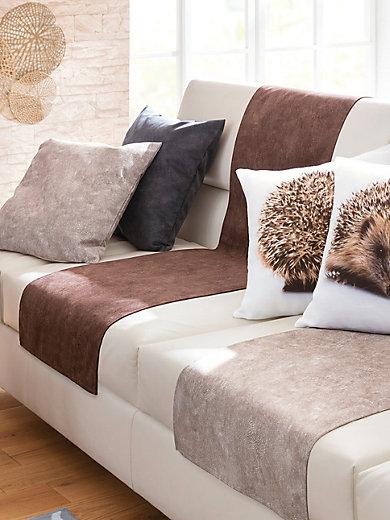 peter hahn le jet de fauteuil 50x140 cm marron. Black Bedroom Furniture Sets. Home Design Ideas