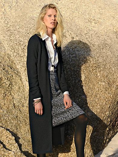 Peter Hahn - Le manteau à col tailleur en maille