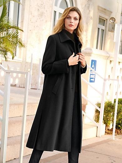 Peter Hahn - Le manteau en alpaga et laine vierge, col plat