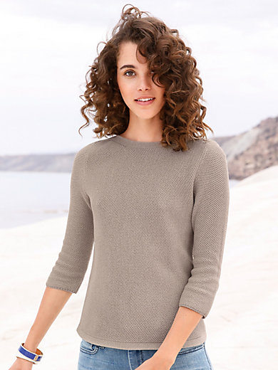 Peter Hahn - Le pull 100% coton Supima® à manches 3/4